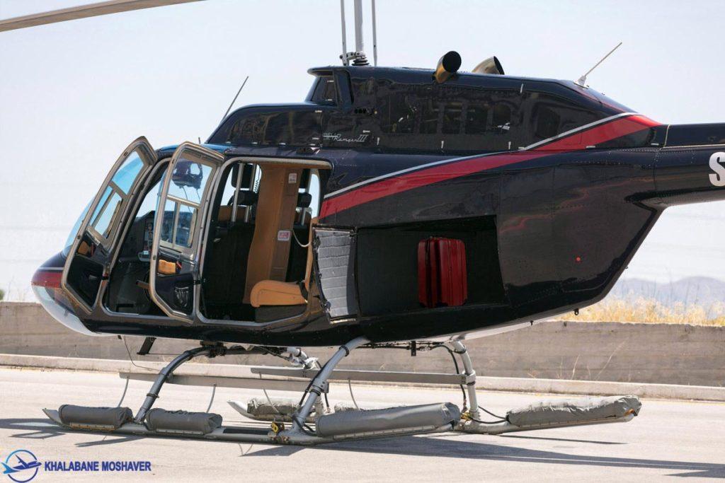 تصویری از نمای جانبی بالگرد 206 جت رنجر