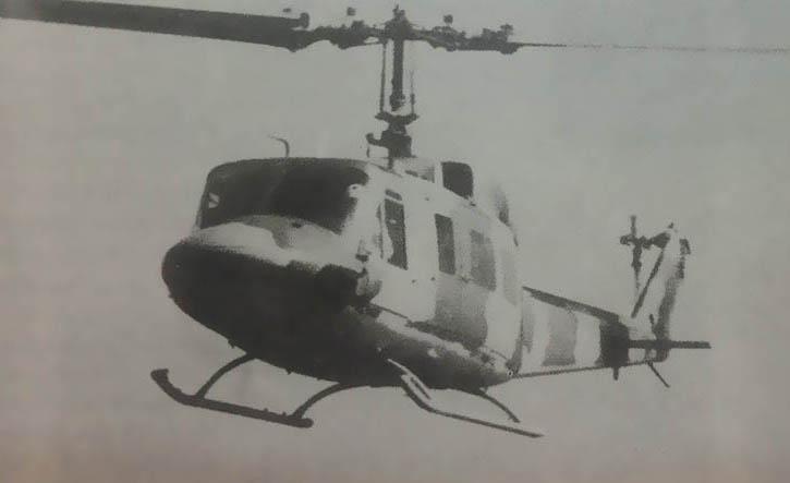 تصویری از اولین پرواز هلیکوپتر Bell-214-A