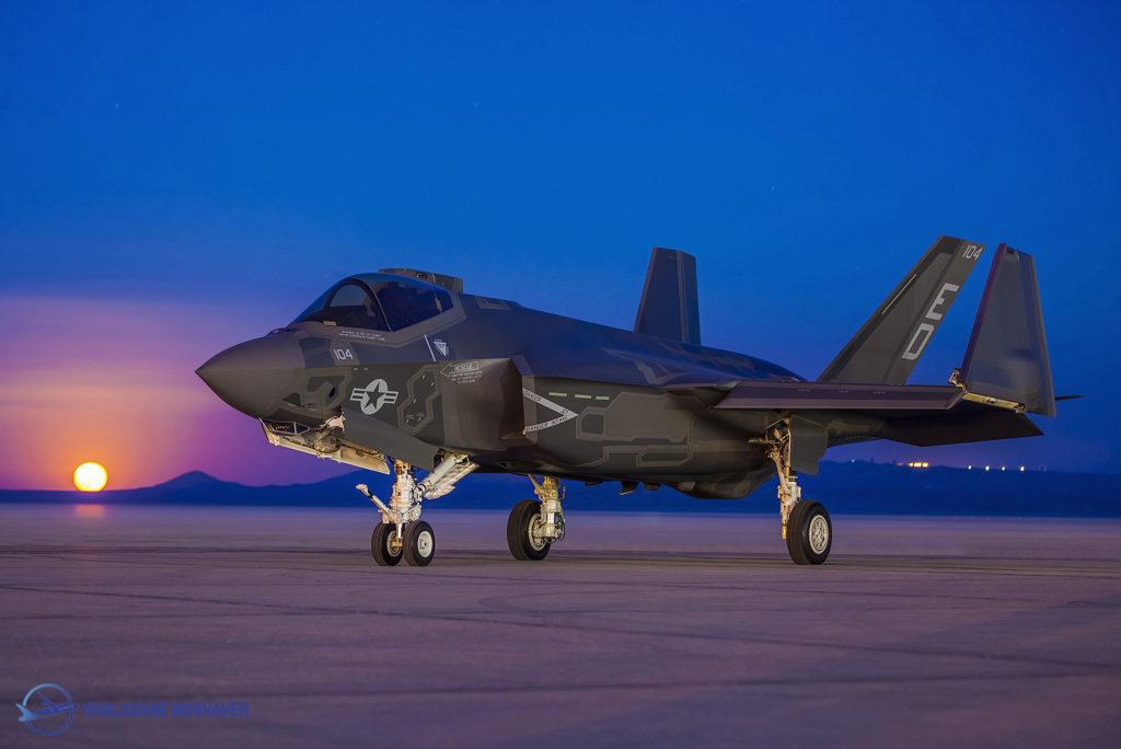 تصویری زیبا از جنگنده اف35