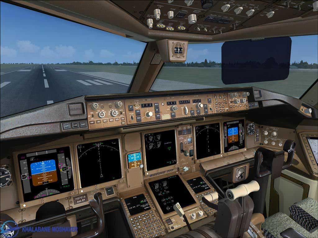 نمای داخل کابین هواپیمای بوئینگ 777