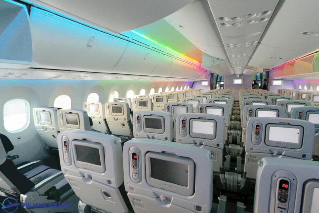 ANA Boeing 787 8 Dreamliner cabin LED show 1024x683 - هواپیمای بوئینگ ۷۸۷