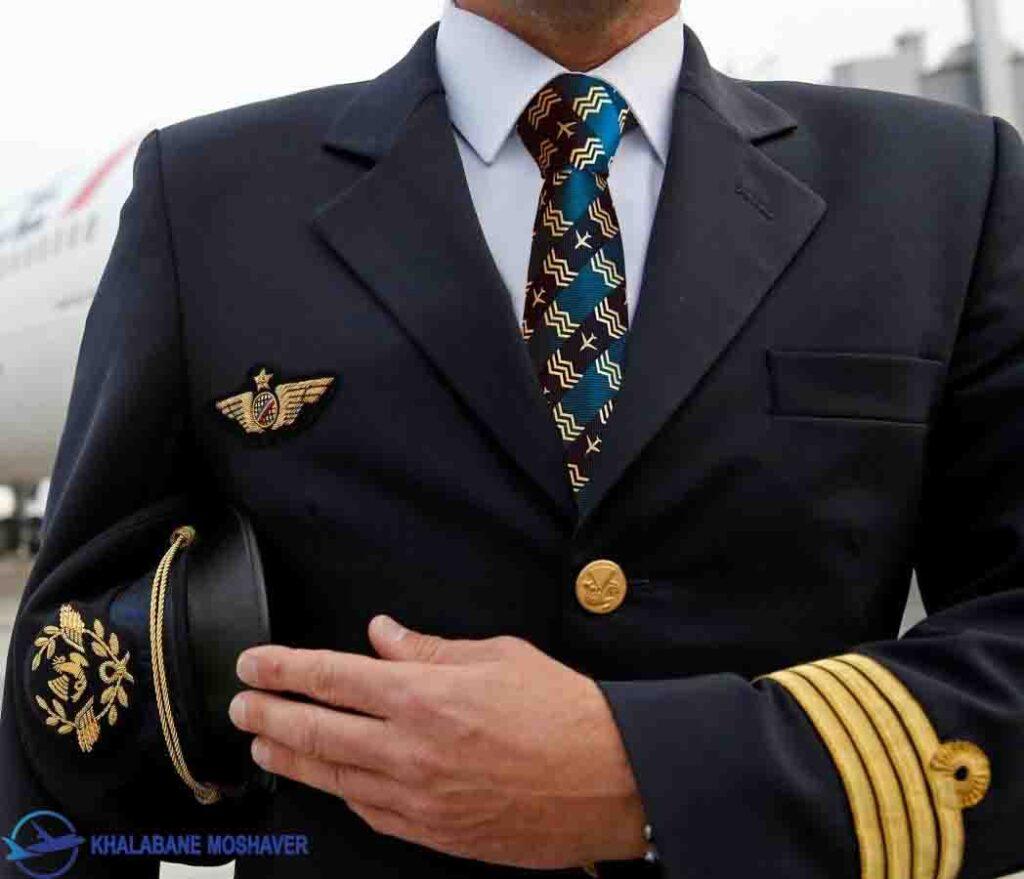 pilots tie copy 2 1024x879 - لباس پرواز خلبانی