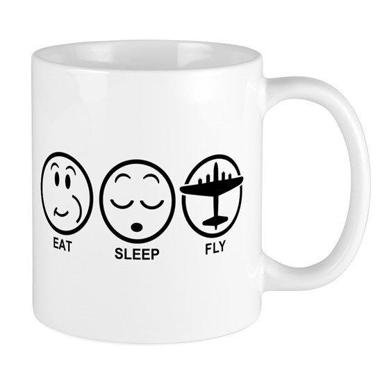 ماگ خلبانی Eat Sleep Fly