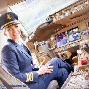 خلبان بوئینگ 777 ایرلاین امارات